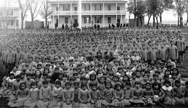 Survivors of the Carlisle Indian Industrial School.